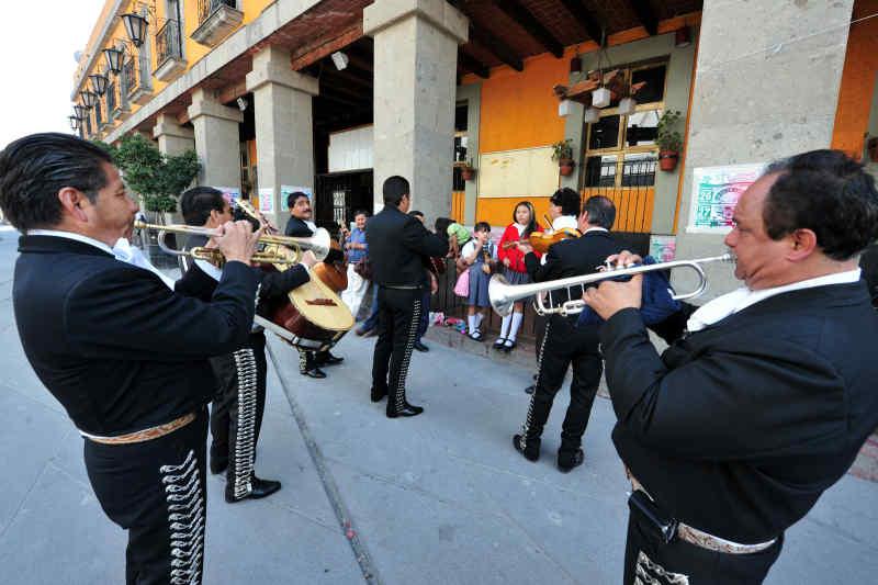Mariachi band at Plaza Garibaldi
