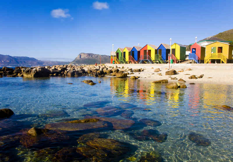 Muizenberg Beach in Cape Town, South Africa