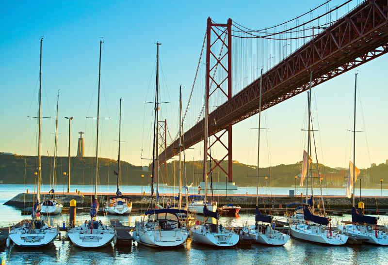 Lisbon suspension bridge