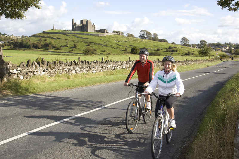 Bikers in front of Rock of Cashel