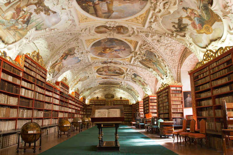 Strahov Library in Prague, Czech Republic