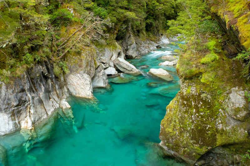 Haast Pass, Blue Pools, New Zealand
