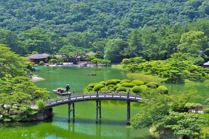 Ritsurin Garden in Takamatsu, Japan
