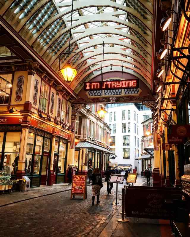 Leadenhall Market, London. Photo by Instagram user @jaynieconnorphoto