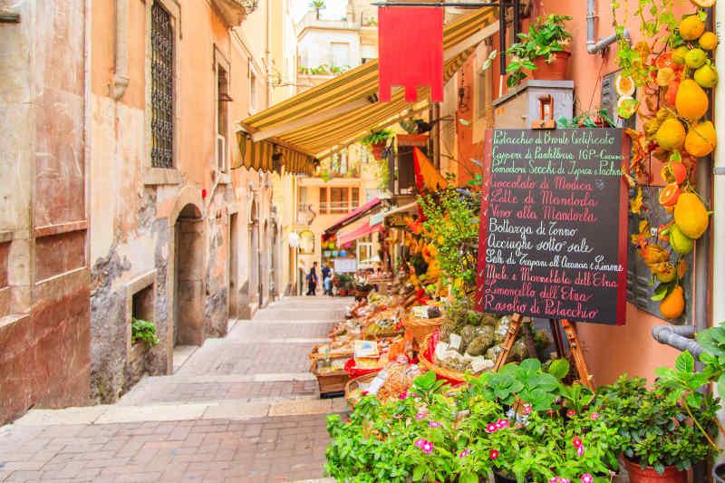 Local shop in Taormina, Sicily