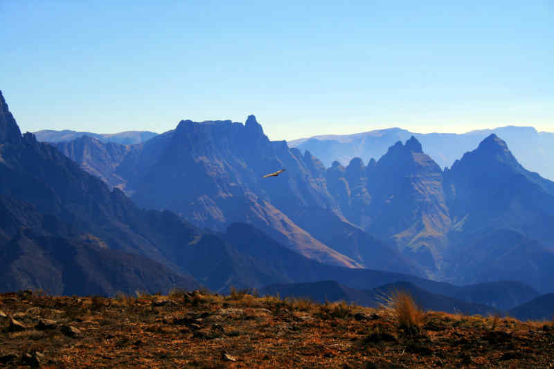 The Drakensberg Mountains in KwaZulu-Natal, South Africa