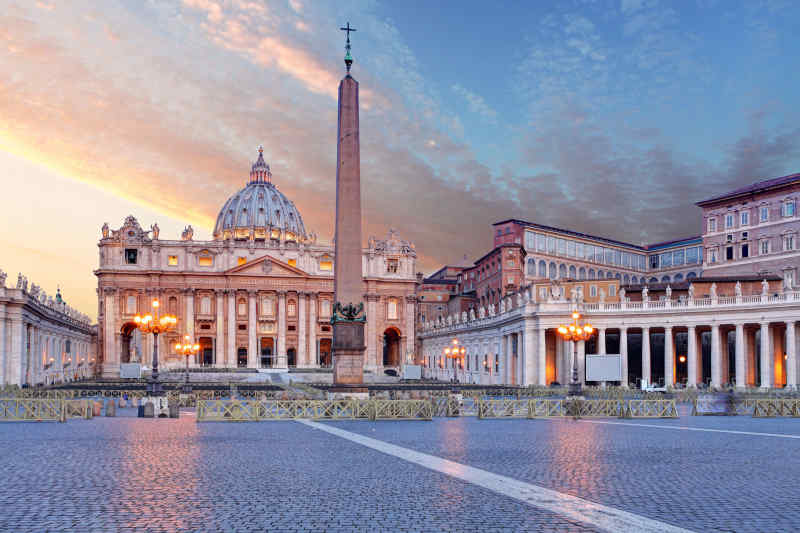 St. Peter's Basilica in Vatican City near Rome, Italy