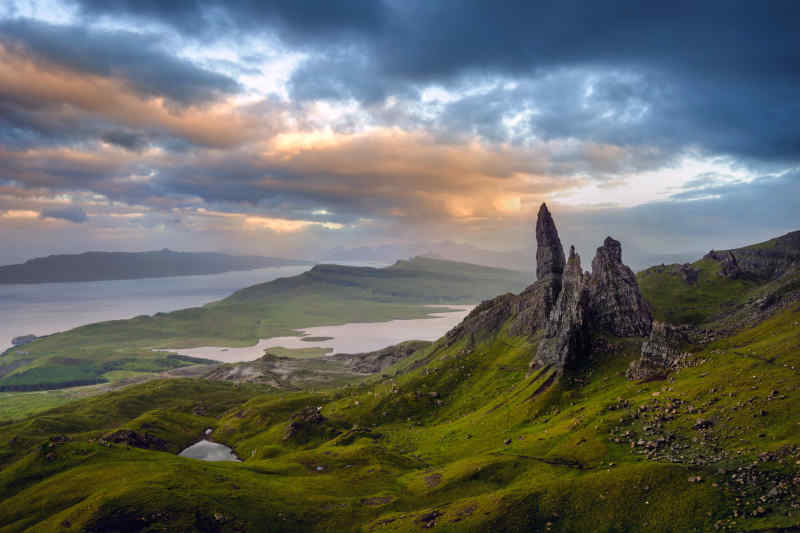 Old Man of Storr on Isle of Skye, Scotland