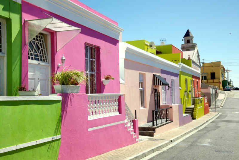 Bo-Kaap Neighborhood in Cape Town, South Africa