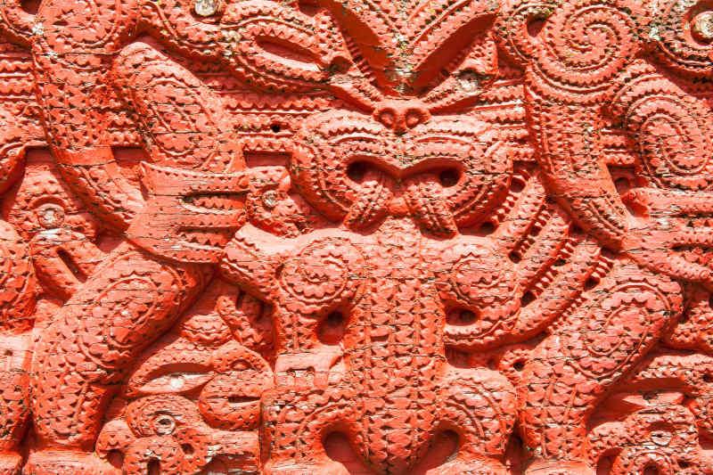 Māori carvings