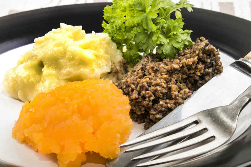 Scottish Haggis with Neeps and Tatties