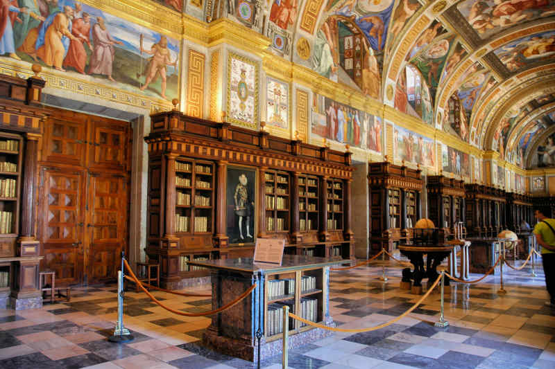 El Escorial Library in Spain