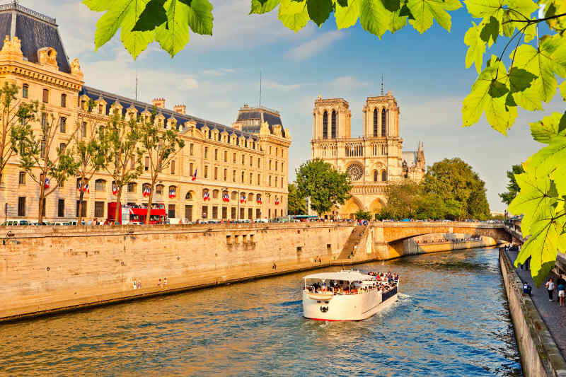 Seine River and Notre Dame, Paris