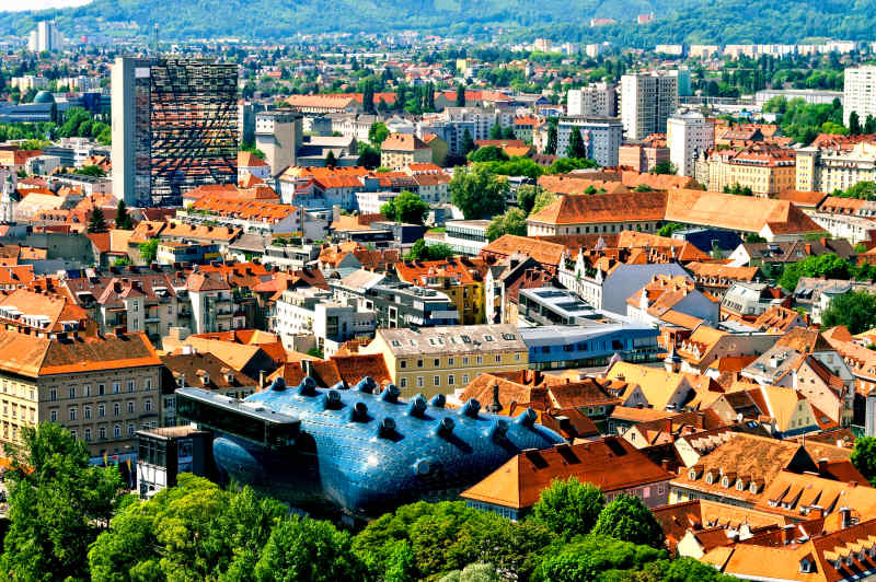 The Kunsthaus Museum in Graz, Austria