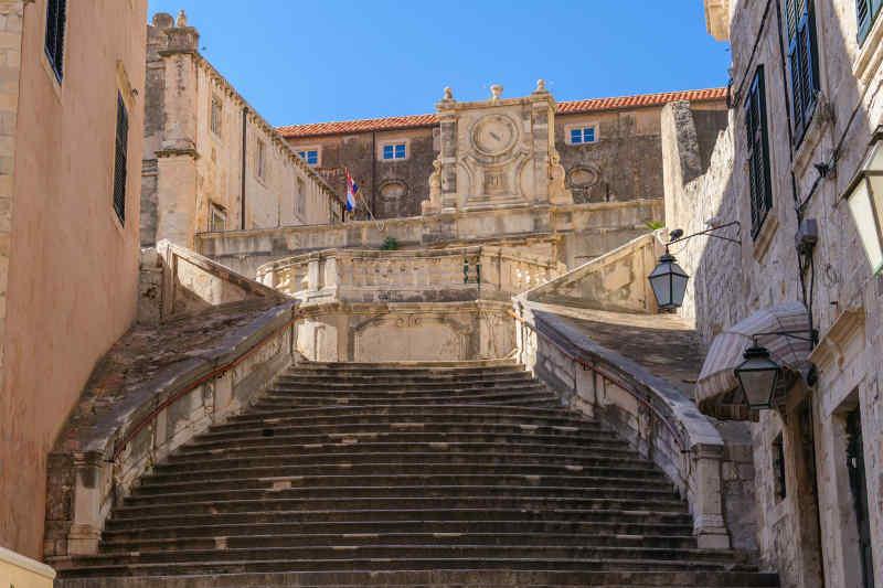 Jesuit Staircase in Dubrovnik