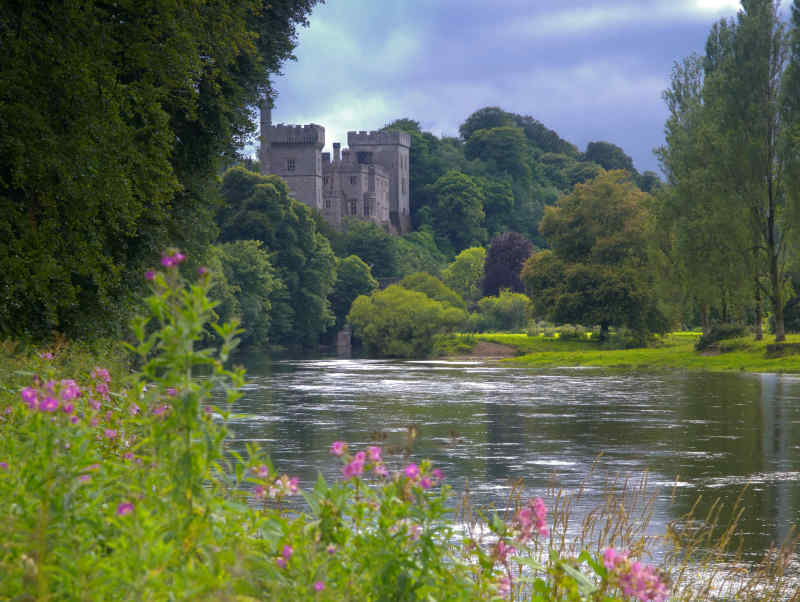 Lismore Castle on Blackwater River in Waterford, Ireland