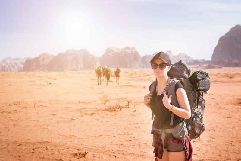 Tourist in Jordan