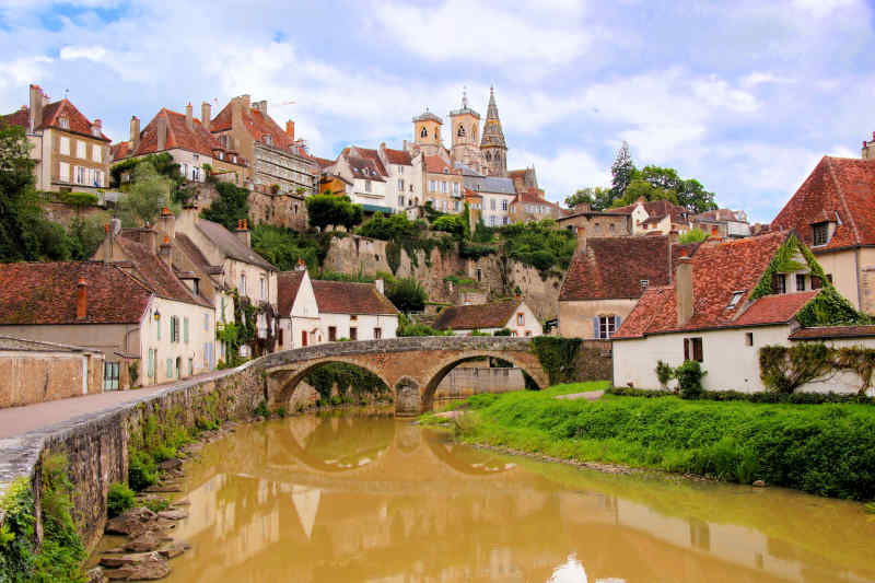 Villages in Burgundy, France