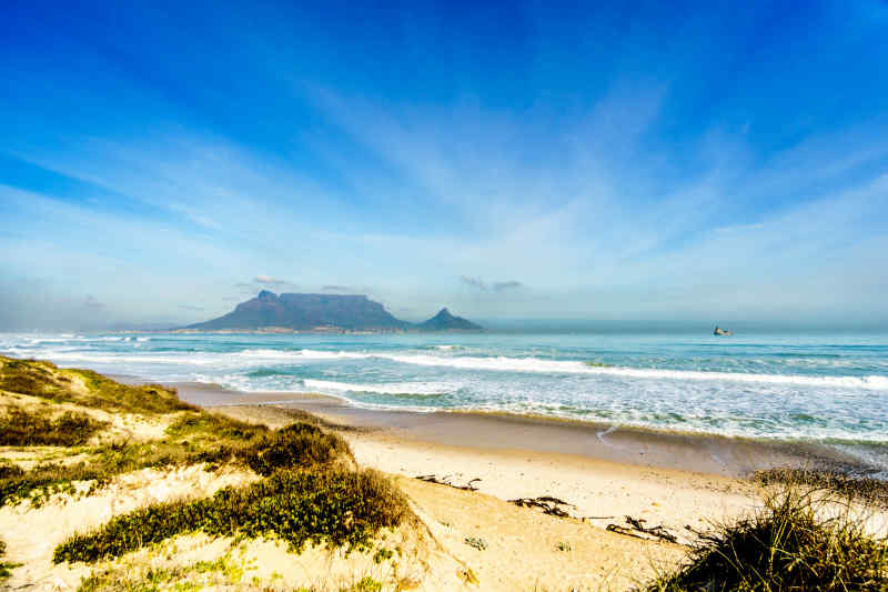 Bloubergstrand Beach near Cape Town, South Africa