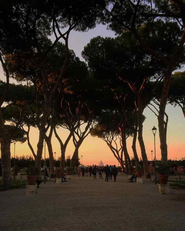 Parco Savello in Rome, Italy