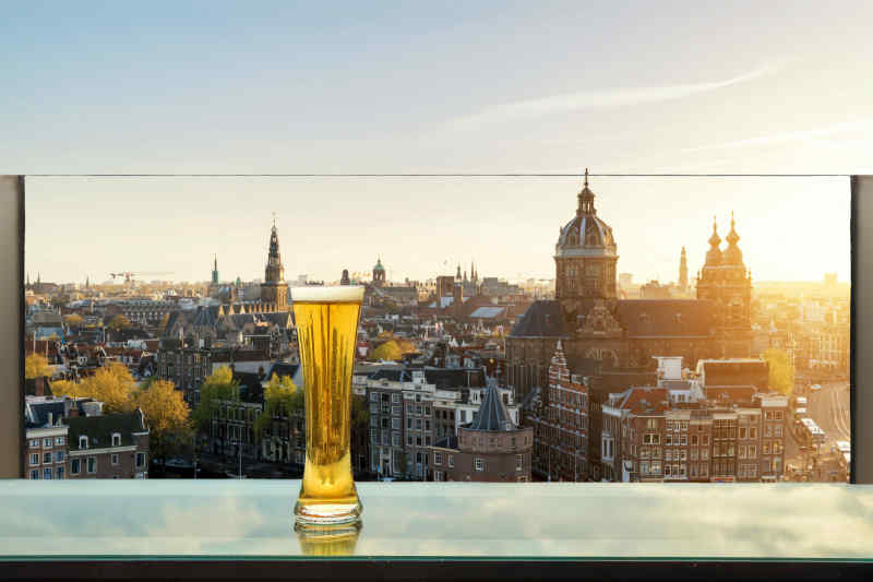 Enjoy a beer in Amsterdam