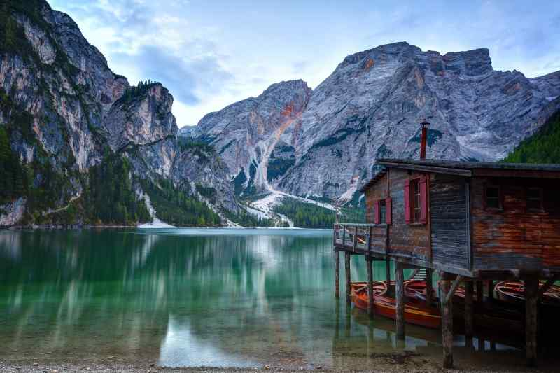 Toblacher See, Dolomites, South Tyrol, Italy