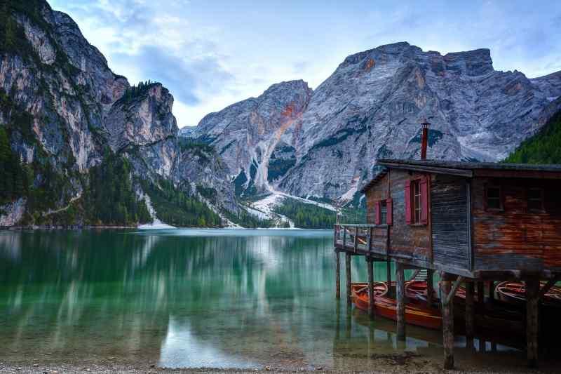 Toblacher See, Dolomites, South Tyrol, Italy