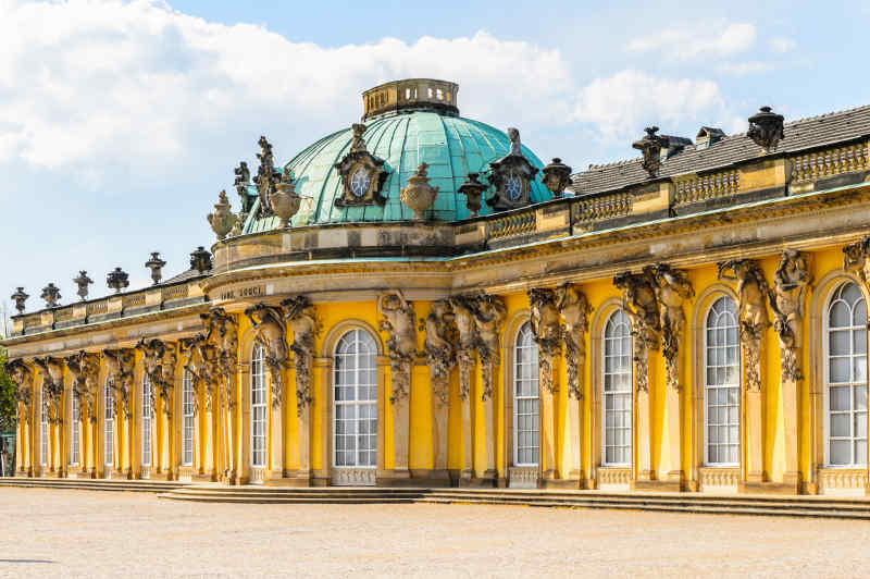Sanssouci Palace in Potsdam, Germany
