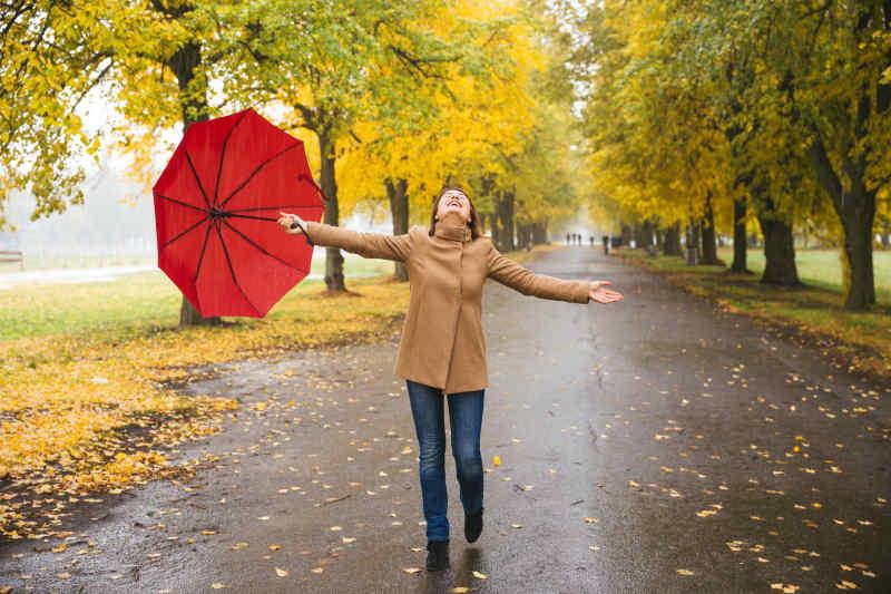 Rainy day woman