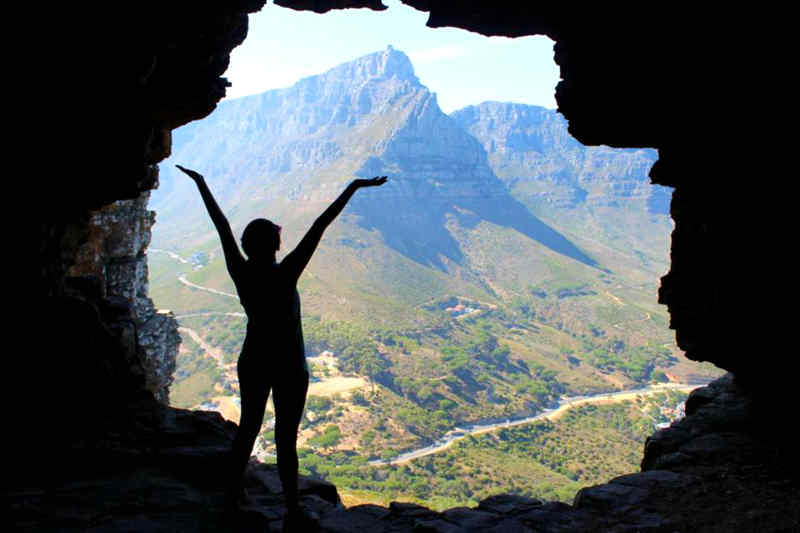 Wally's Cave at Lion's Head in Cape Town, South Africa