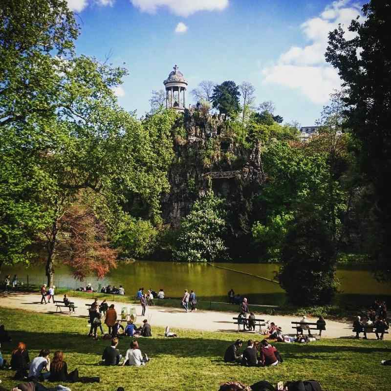 Parc des Buttes Chaumont in Paris