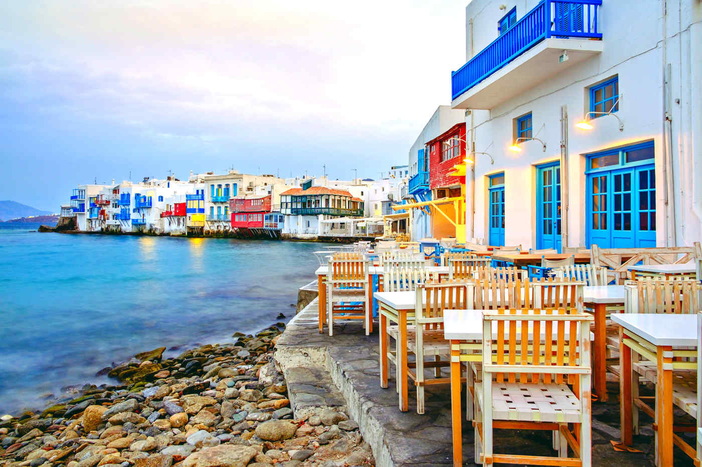 Little Venice on Mykonos, Greece