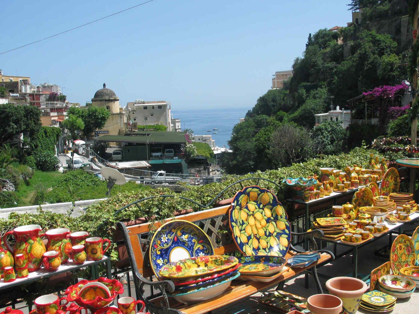 Ceramic Market in Positano Italy