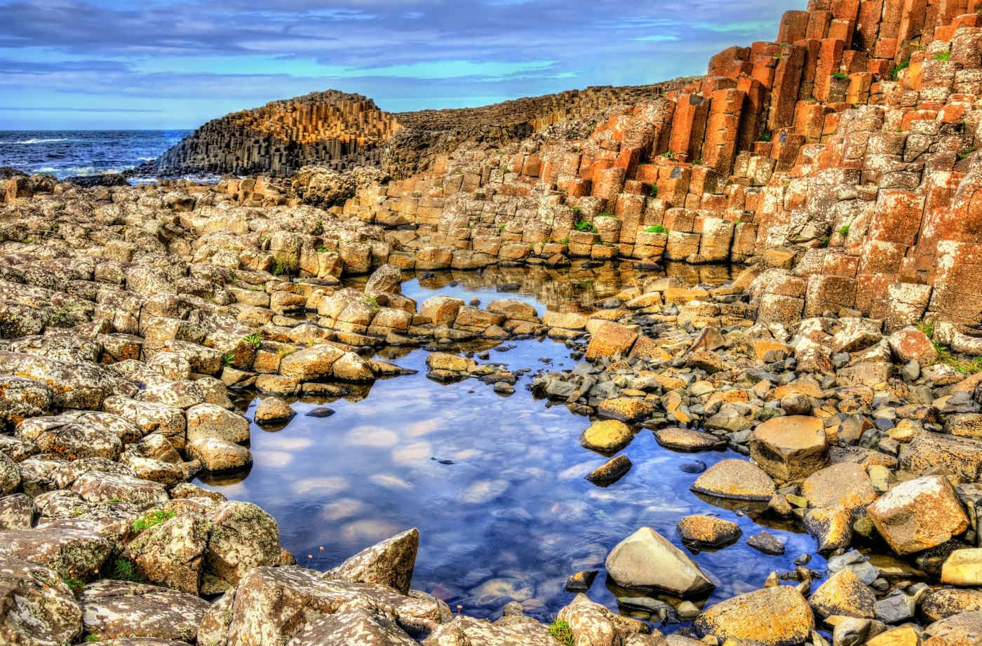 Giant's Causeway in County Antrim, Northern Ireland