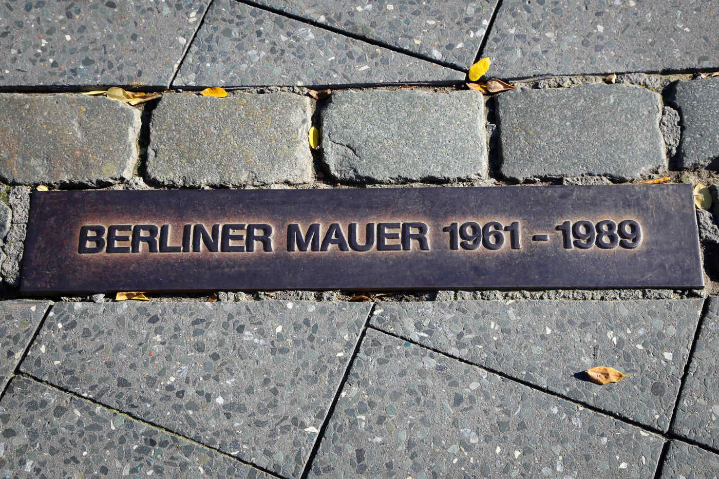 Berlin Wall East-West Marker