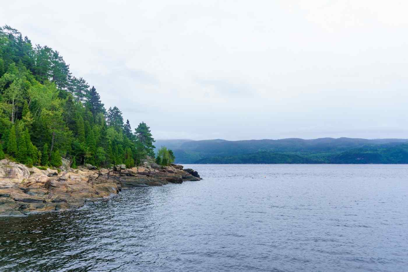 Saguenay Fjord near Quebec, Canada