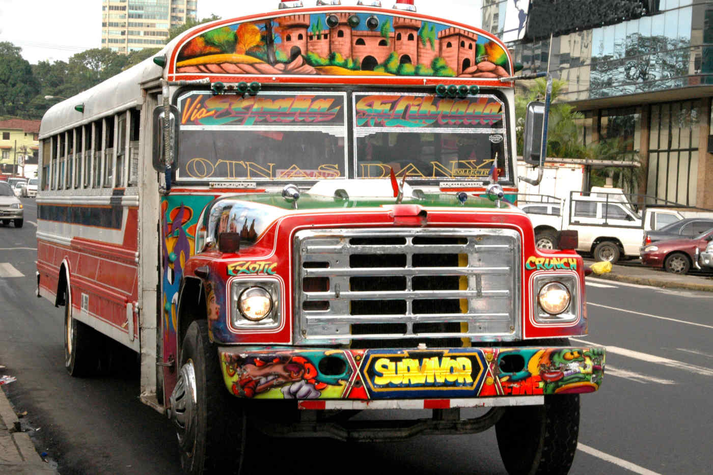 Panama chiva bus
