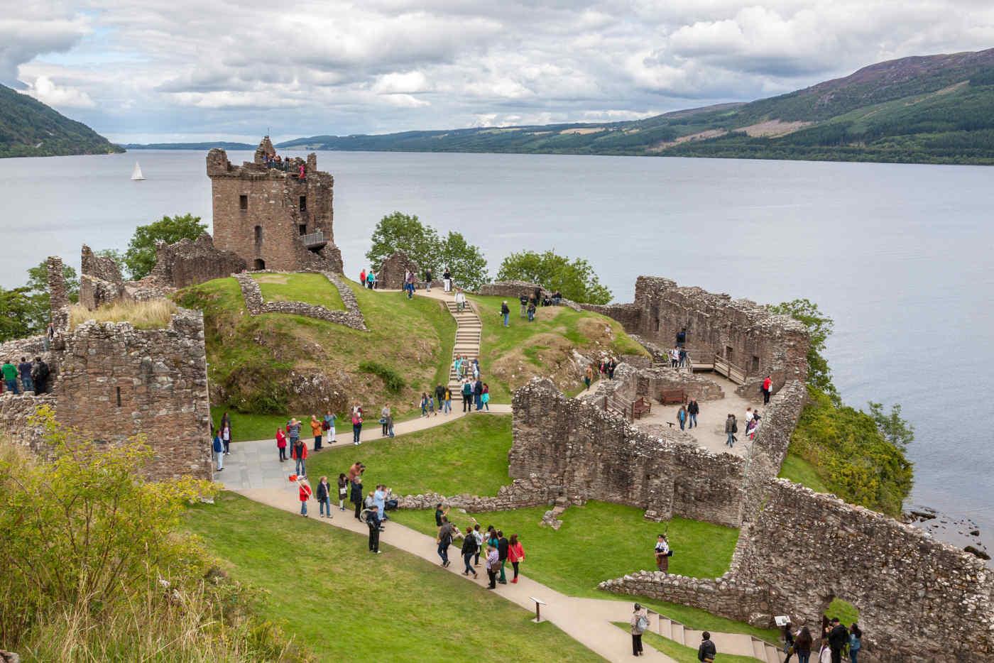 Urquhart Castle in Loch Ness, Scotland