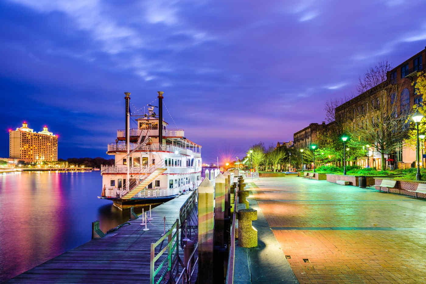 Savannah, Geogia Riverfront Promenade