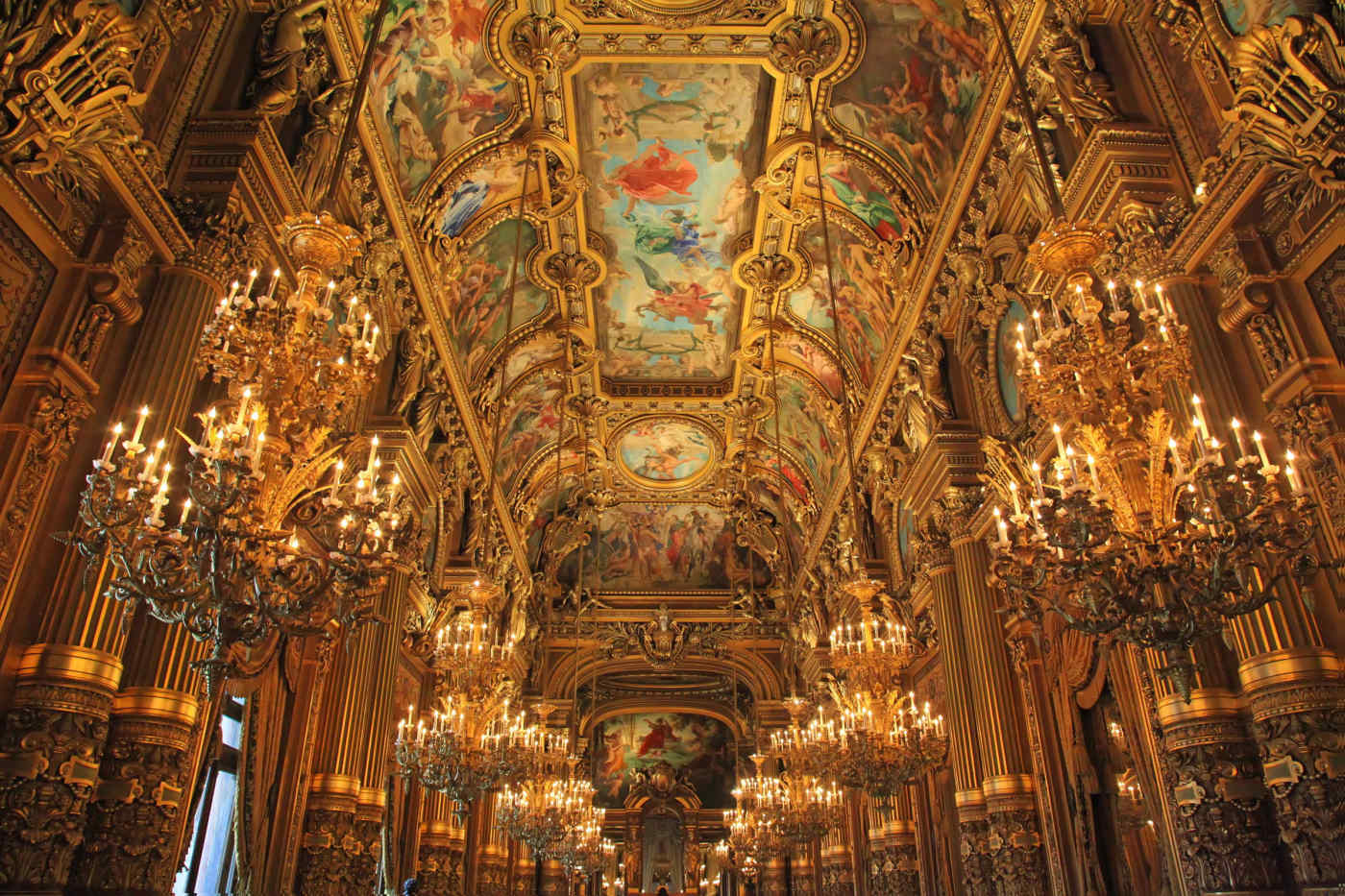 Grand Foyer at the Paris Opera in Paris, France