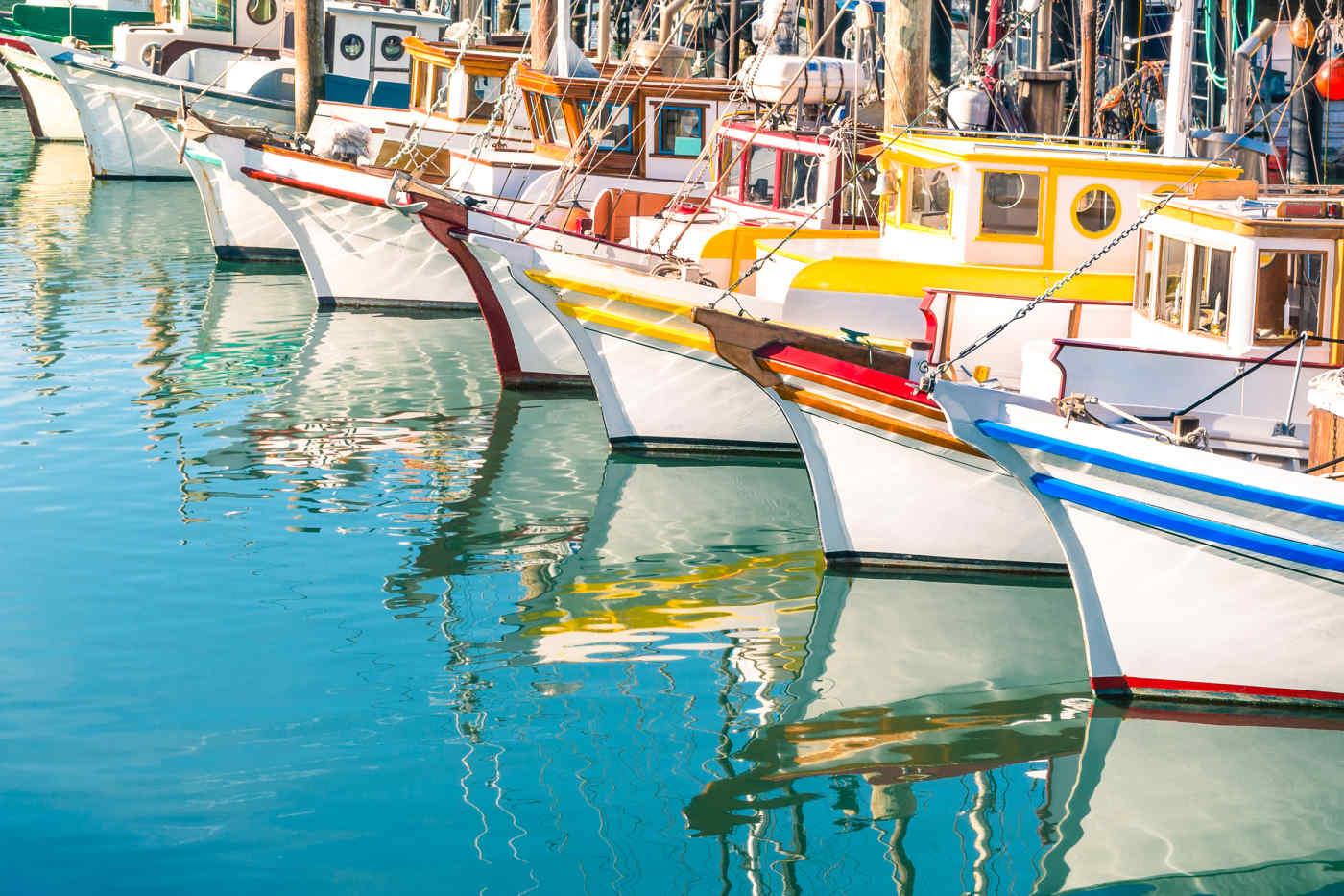 Fishermans Wharf of San Francisco Bay