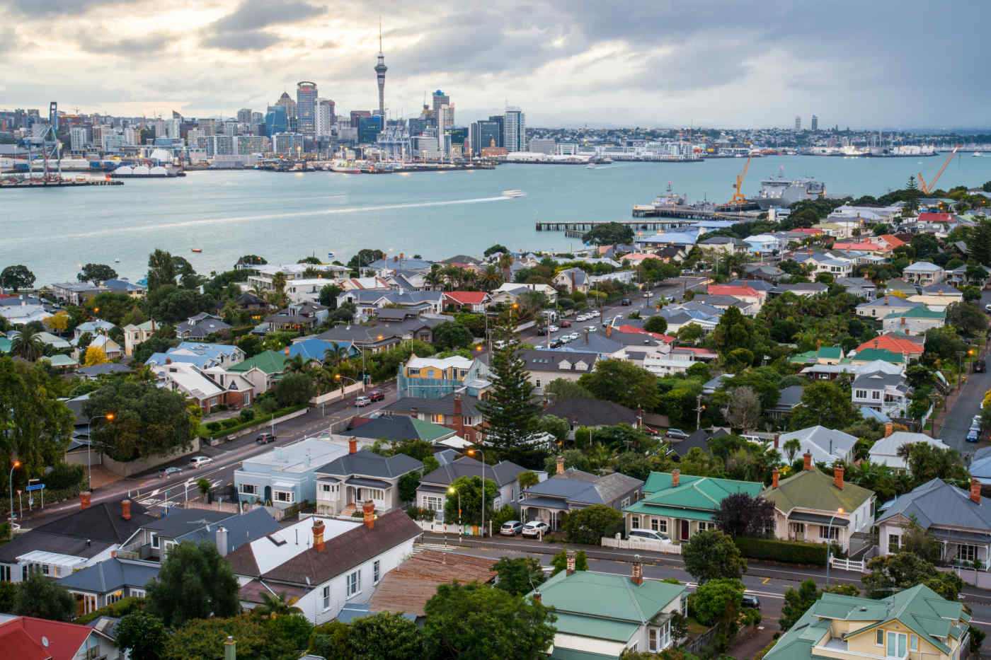View from Mount Victoria • Devonport, Auckland, New Zealand