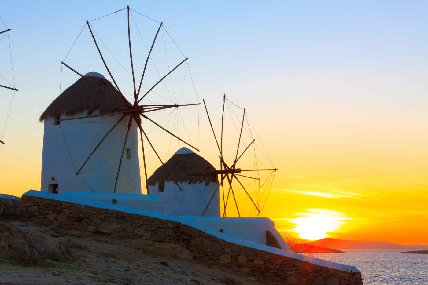 Kato Myli Windmills, Mykonos, Greece