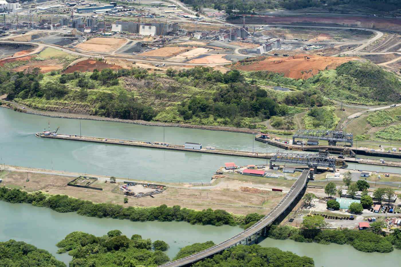 Miraflores Locks at Panama Canal in Panama City