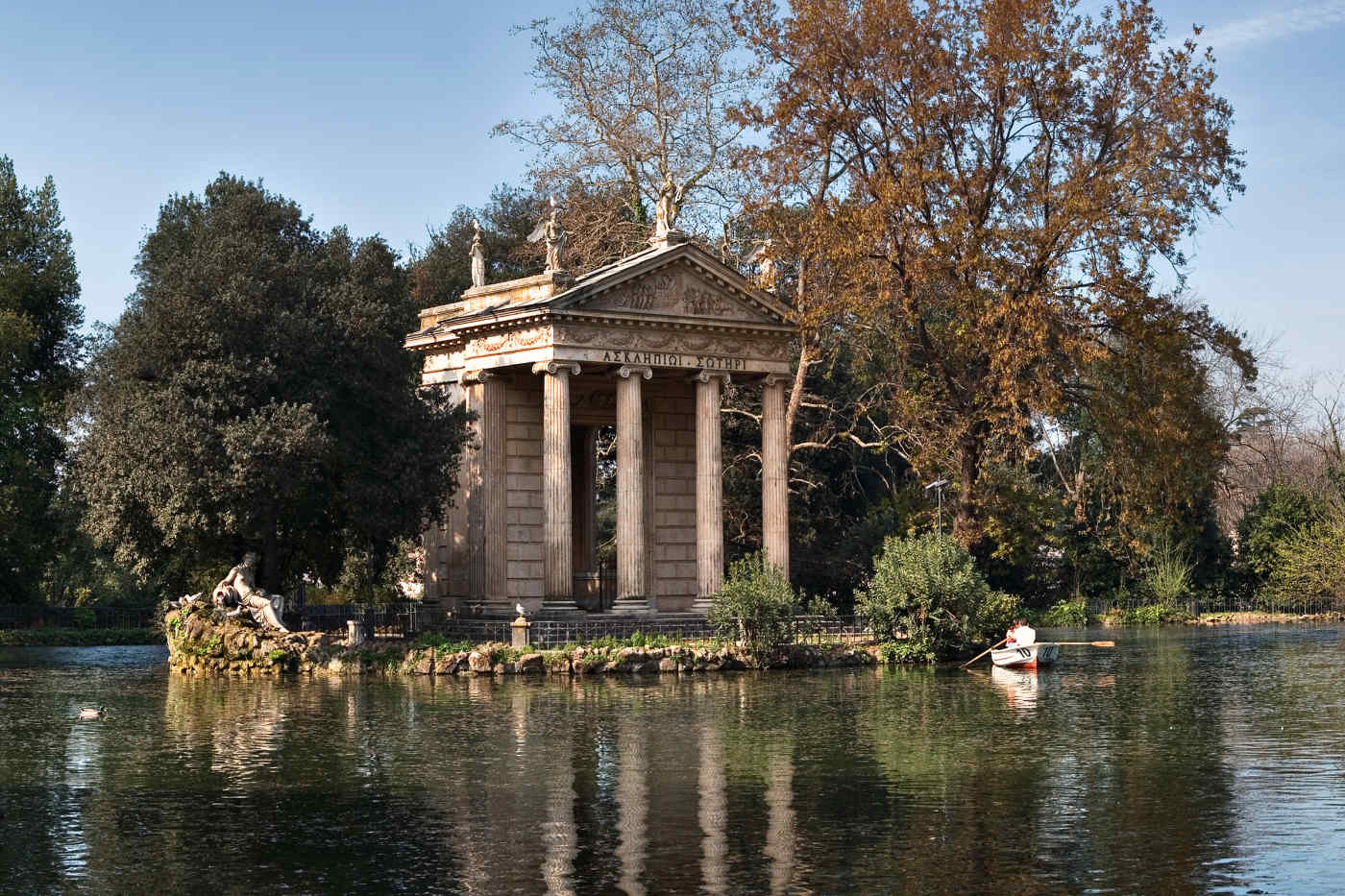 Borghese Gardens in Rome
