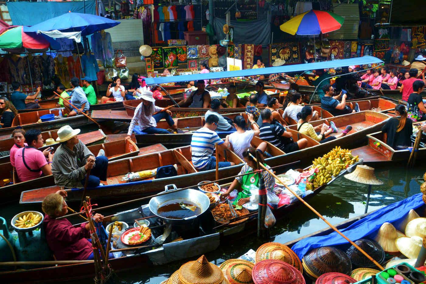 Damnoen Saduak Floating Market near Bangkok