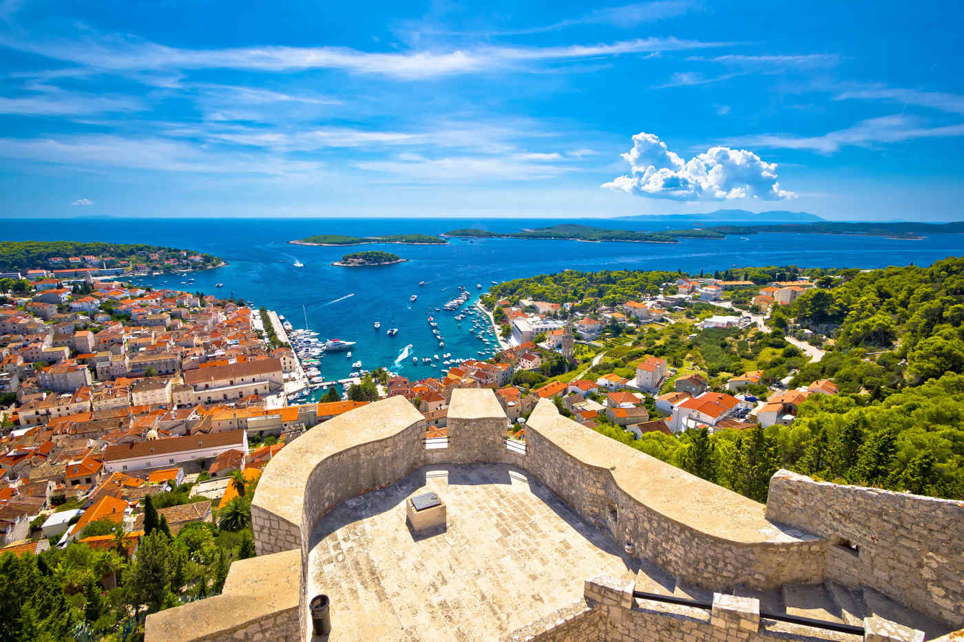 View of Hvar from Fortica