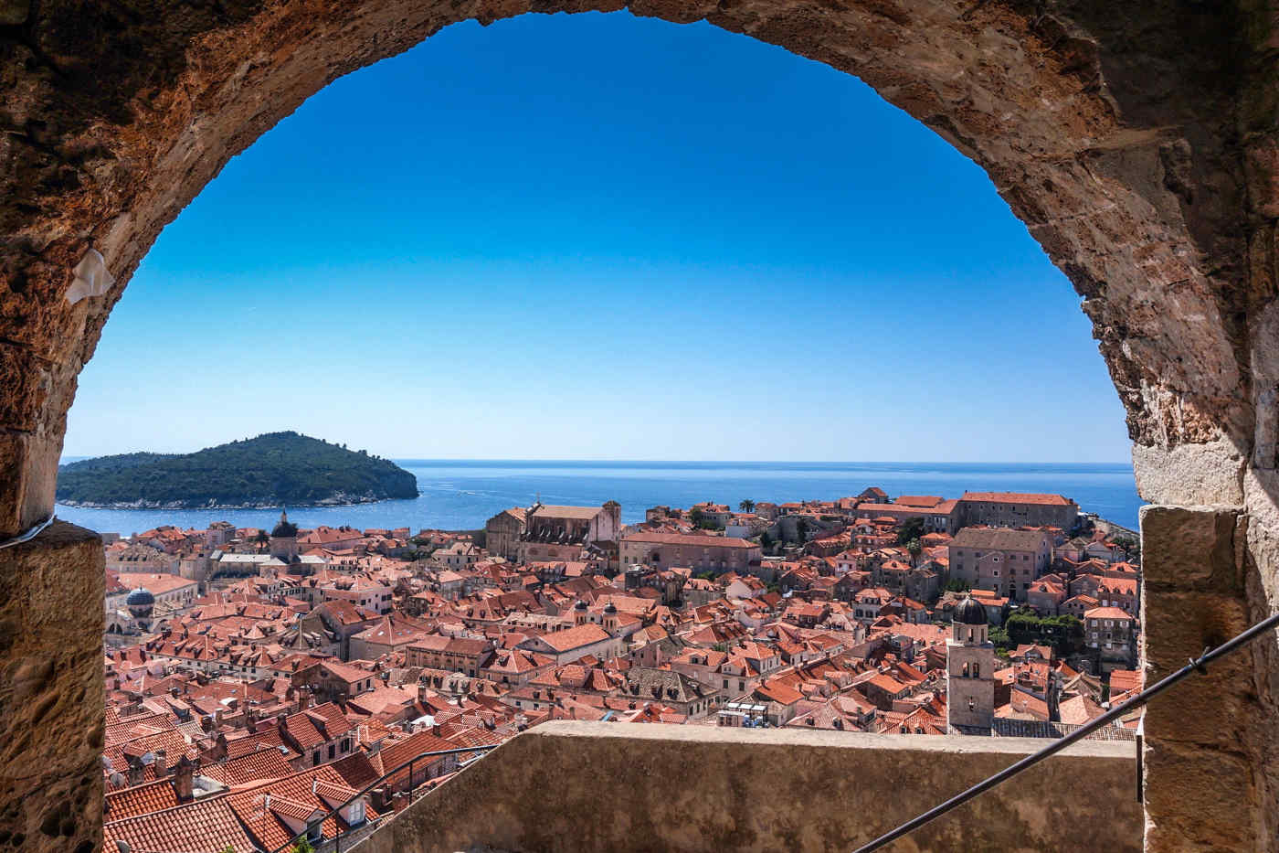 Dubrovnik with Lokrum in the distance