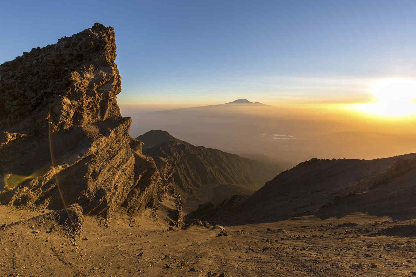 Mount Meru and Mount Kilimanjaro, Tanzania