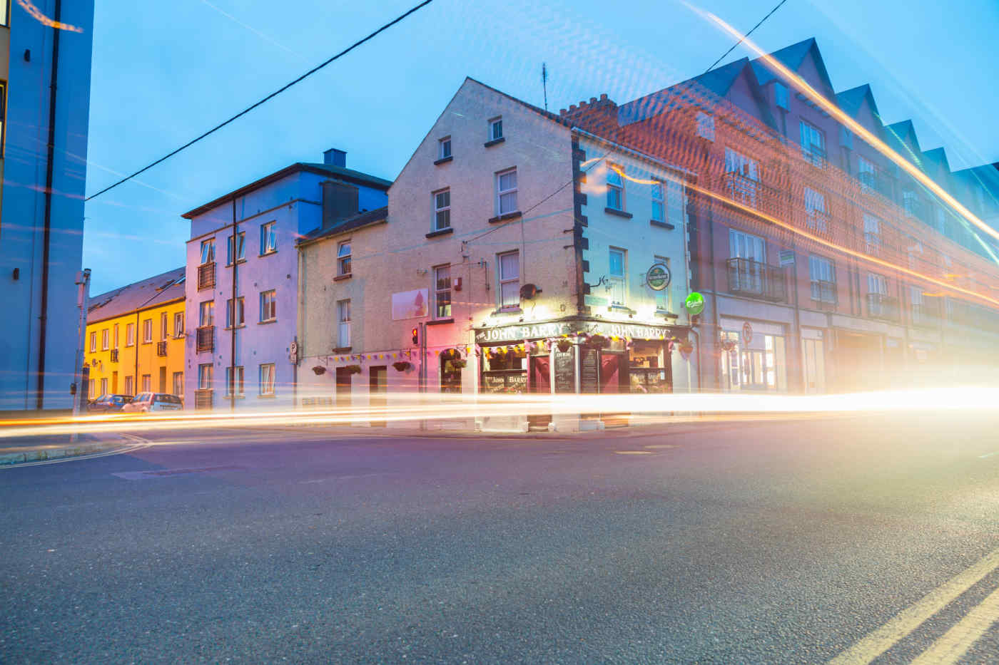 Wexford at night